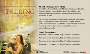 Telling Amy's Story Postcard Template