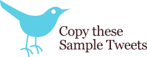Copy These Sample Tweets